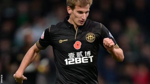 Aston Villa winger Marc Albrighton joined Wigan on loan in late October