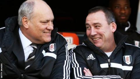 Former Fulham manager Martin Jol and Rene Meulensteen