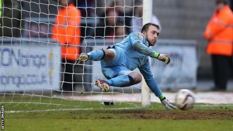 Rochdale goalkeeper Josh Lillis