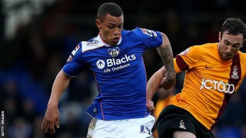 Oldham striker Jonson Clarke-Harris