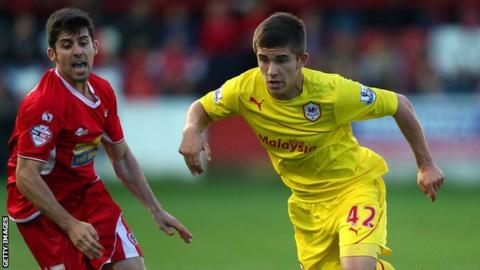 Cardiff City and Wales defender Declan John in action for the Bluebirds