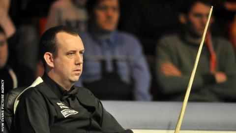 Snooker player Mark Williams who was knocked out of the UK Championships.