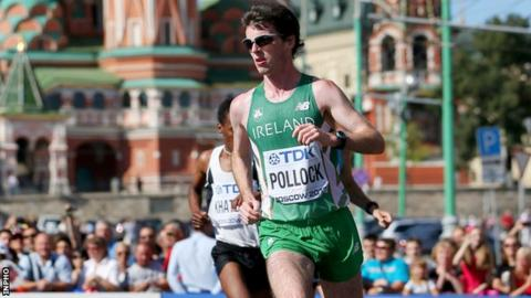 Paul Pollock in action in this year's World Championship marathon where he finished 21st