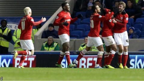 Paddy McCourt scores for Barnsley v Brighton