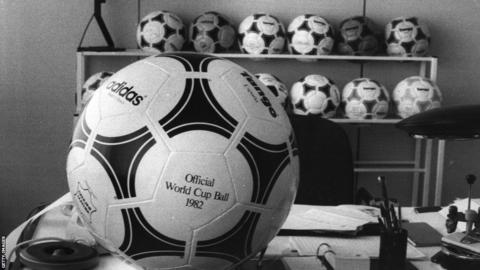 Tango Espana was the last genuine leather ball used in the World Cup when it was the official match ball for the 1982 finals in Spain. It was supposed to have improved water resistant qualities through its rubberized seams, but these were not very resistant and the ball was changed several times during some games