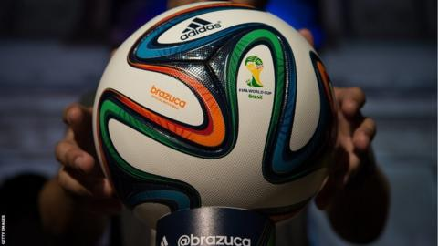 f76f46bc0 The official 2014 FIFA World Cup match ball was unveiled on Wednesday by  manufacturers Adidas.