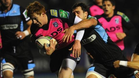 Rhys Patchell goes over