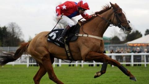 Sire De Grugy wins at Sandown