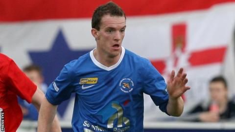 David Kee scored Ballinamallard's goal at Ferney Park