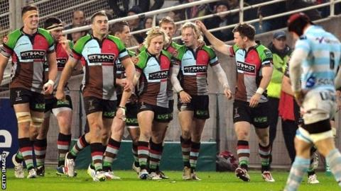 Harlequins beat Racing Metro