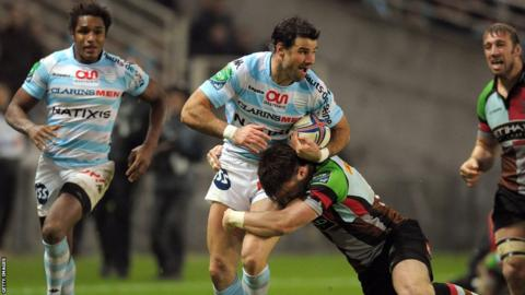 Mike Phillips makes his Racing Metro 92 debut in their 32-8 Heineken Cup defeat by Harlequins in Nantes
