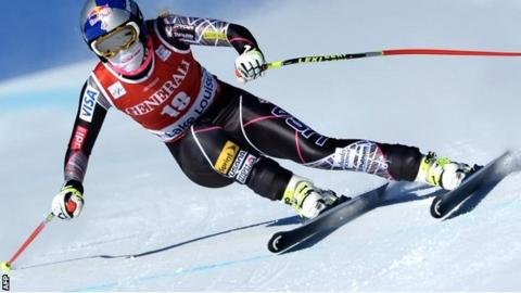 Lindsey Vonn in action at Lake Louise