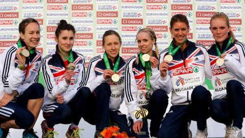 GB women cross country runners