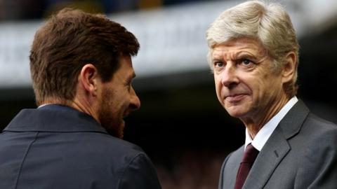 Andre Villas-Boas and Arsene Wenger