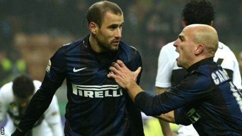 Inter Milan's Rodrigo Palacio