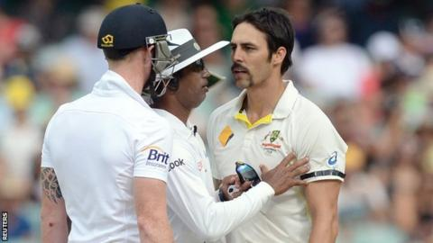 Ben Stokes and Mitchell Johnson