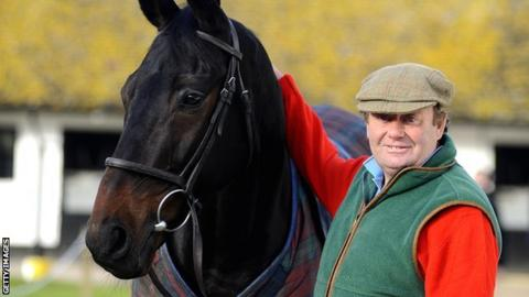 Sprinter Sacre with trainer Nicky Henderson