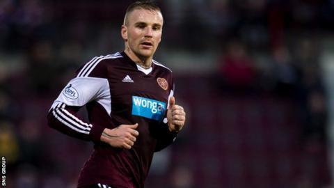 Hearts midfielder Ryan Stevenson