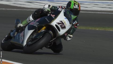 Michael Laverty at MotoGP testing in Valencia