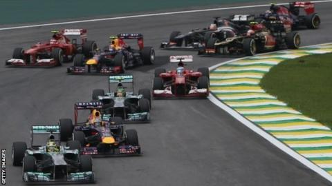 Start of the Brazilian Grand Prix