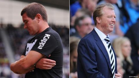 Nigel Clough and Steve McClaren.