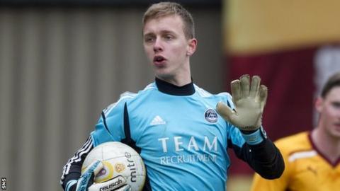 Dundee goalkeeper Dan Twardzik