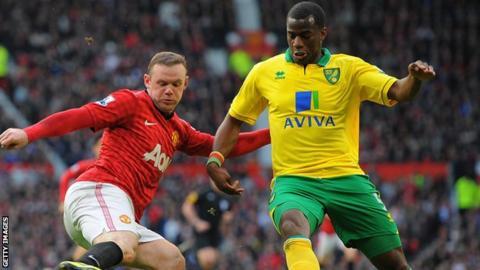 Norwich defender Sebastien Bassong