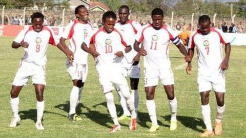 Jubilant Kenya players at Cecafa Cup