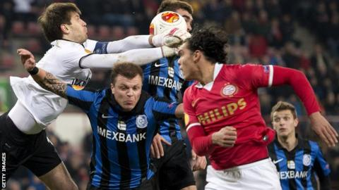 PSV eliminated from Europa League