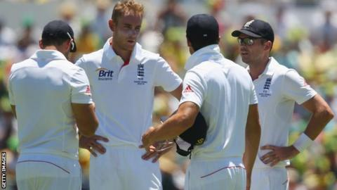Tim Bresnan, Stuart Broad and James Anderson