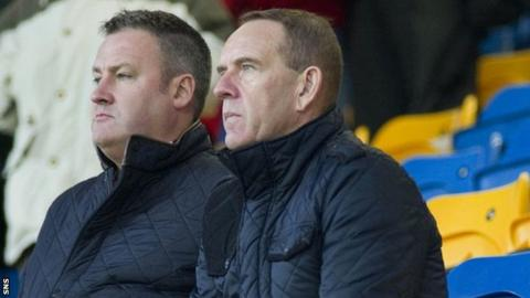 Kenny Shiels watches Morton lose to Dundee