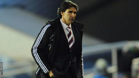A despondent Middlesbrough boss Aitor Karanka after his side concede a stoppage time equaliser at Birmingham