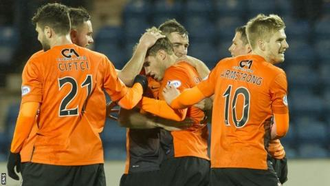Dundee United recorded their four four-goal win in a row