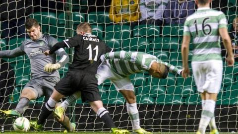 Paul Cairney is denied by Fraser Forster