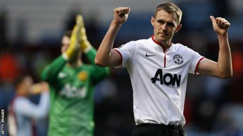 Darren Fletcher played 20 minutes for Manchester United at Aston Villa