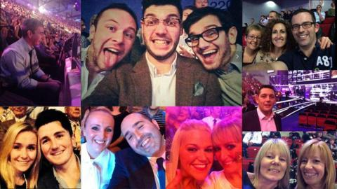 A selection of people watching the BBC's Sports Personality of the Year