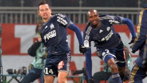 """Marseille""""s French midfielder Florian Thauvin"""