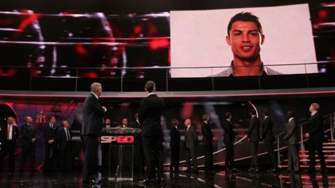 Sir Alex Ferguson, Gary Lineker and Cristiano Ronaldo