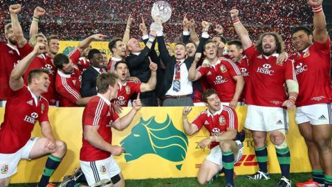 British and Irish Lions celebrate