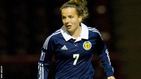 Hayley Lauder was on target for Scotland