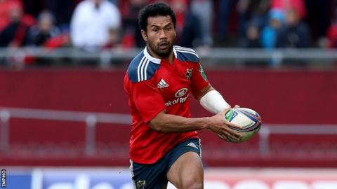 Casey Laulala made his Munster debut in September 2012