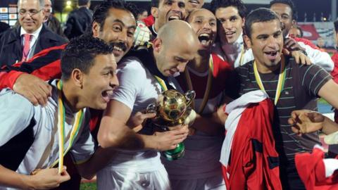 CS Sfaxien celebrate winning the 2013 Confederation Cup