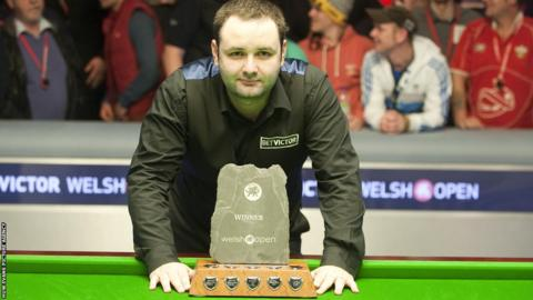 Stephen Maguire edged out Stuart Bingham in a thrilling match to win the Welsh Open snooker tournament at the Newport Centre