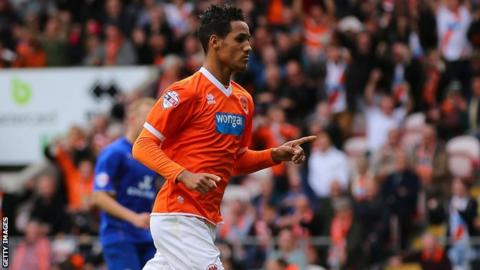 Blackpool winger Thomas Ince