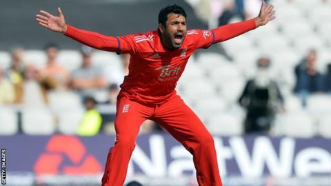 England's Ravi Bopara appeals