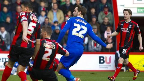 Andrew Shinnie nets Birmingham City's opener at Bournemouth