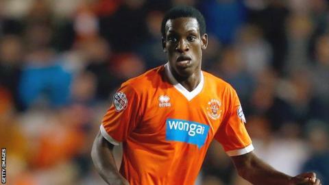 Blackpool midfielder Isaiah Osbourne
