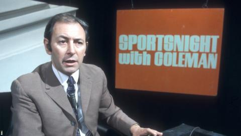 David Coleman on Sportsnight With Coleman, 1969.