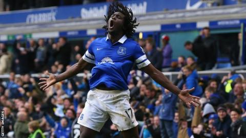 Everton's on loan striker Romelu Lukaku