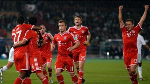 Bayern Munich players celebrate